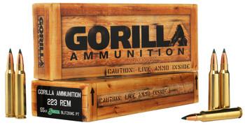 GORILLA AMMUNITION 223 55GR SBK 20CT