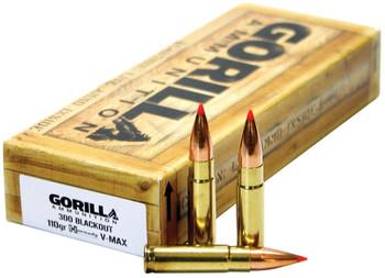 GORILLA AMMUNITION 300BLK 110GR VMAX 20CT