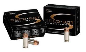 Speer Gold DOT 9Mm+P 124G HP SB 20/500