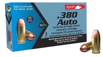 Aguila 380Acp 95 Grain Weight FMJ 50/1000 1E802110
