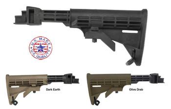 Tapco Stock T6 6 Position FOR AK STK06160 BLACK