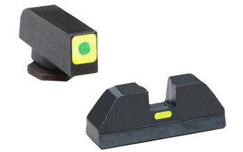 Ameriglo Gl605 CAP Night Sight Fits Glock 42/43 Tritium Green W/Lumigreen Outline Front Black W/Paint Lumigreen Rear