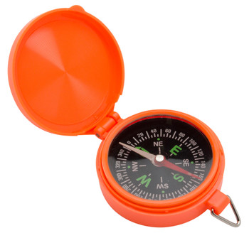Allen 487 Pocket Compass With LID Orange 487