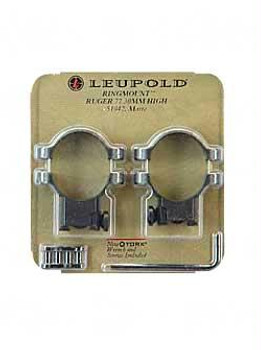 Leupold 2-Piece Solid Steel Ringmounts - Ruger M77 30Mm High Matte Black