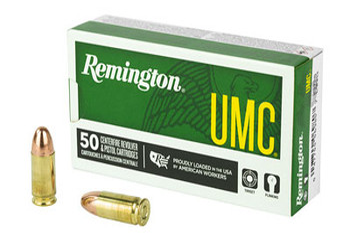 Remington UMC 9MM 115 Grain Weight FMJ 50/500