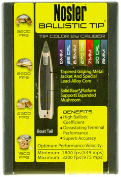 Nosler Bullets 458 CAL .458 300Gr Ballistic TIP 50