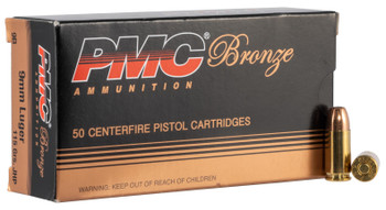 PMC Ammo 9MM Luger 115Gr. JHP 50-Pack 9B