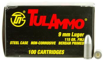 Tula 9mm 115 Grain Weight Fmj 100/1000