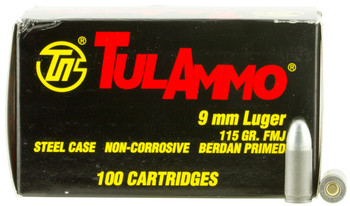 Tula 9mm 115 Grain Weight Fmj 100/1000