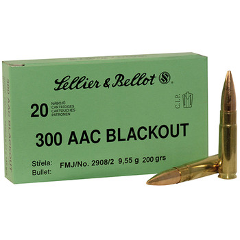 Sellier & Bellot 300Blk 200Gr FMJ Subsonic 20/50