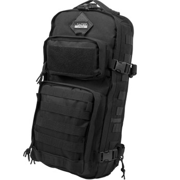 "Barska BI12026 GX-300 Tactical Sling Backpack Black 600D Polyester 11"" x 7.5"" x"