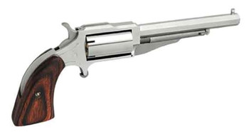"NAA NAA18604CB Revolver Single 22 Black Powder Barrel 4"" Wood Stock 5"