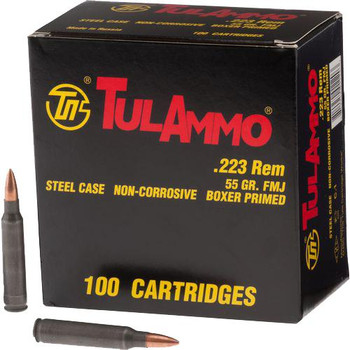 Tula 223Rem 55 Grain Weight FMJ 100/1000