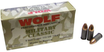 Wolf Mc919fmj Military Classic   9Mm Luger 115 GR