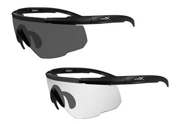Wiley X Eyewear 307 Saber Advanced Safety Glasses Smoke/Clear