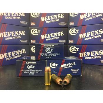 COLT AMMO DEFENSE 45ACP 230GR JHP 20/50