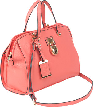 Bulldog Satchel Style Purse Coral BDP-026