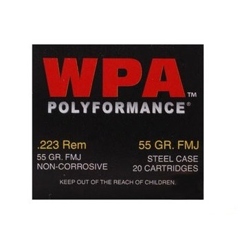 Wolf Performance Ammo 223 55Gr FMJ 20Bx 22355