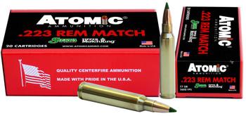 Atomic Ammunition Ammo .223 Rem. Match 77Gr. Sierr