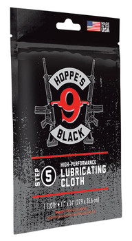 Hoppes Black Lubricated Clothe Re-Sealable BAG
