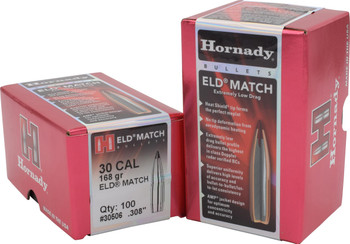 Hornady Bullets 30Cal .308 168Gr. Eld-Match  100Ct