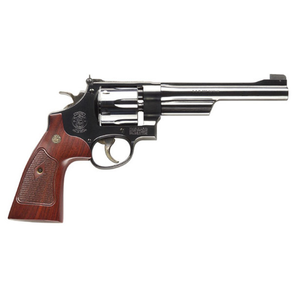 """SMITH & WESSON 27 CLASSIC .357 6.5"""" AS BLUED CHECKERED WOOD GRIPS"""