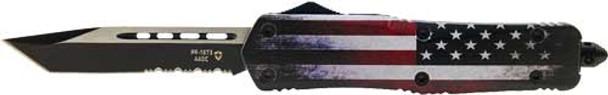 "TEMPLAR KNIFE KNIFE LARGE OTF FULL US 3.5"" BLACK TANTO SERRATED"