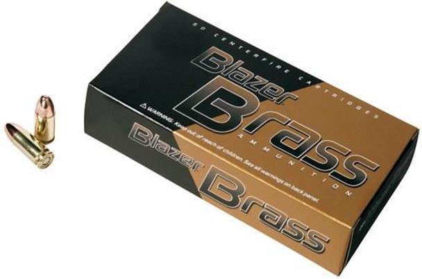 CCI 5200 Blazer Brass  9Mm Luger 115 GR Full Metal Jacket Round Nose 50 BX/ 20 CS