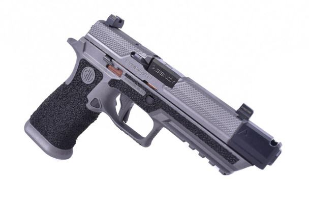 Agency Arms P320 Full Size Syndicate S2 9MM Pistol 419 Single Port Comp 2 Tone/Coral Stipple