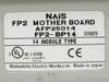 NAIS 14 Slot Backplane w PSA3, FP2-C2, PP42 x3, X64D2 x4, Y64T x3 FP2-BP14