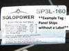 Solopower SP3L 160W 7-Ft Long Flexible Solar Panel CIGS with Solder Point Tabs