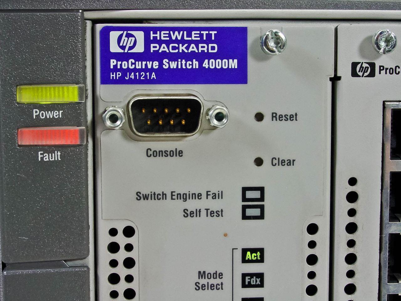 HP ProCurve Switch 4000m 10/100/100 with (6) J4111A Modules (J4121A)