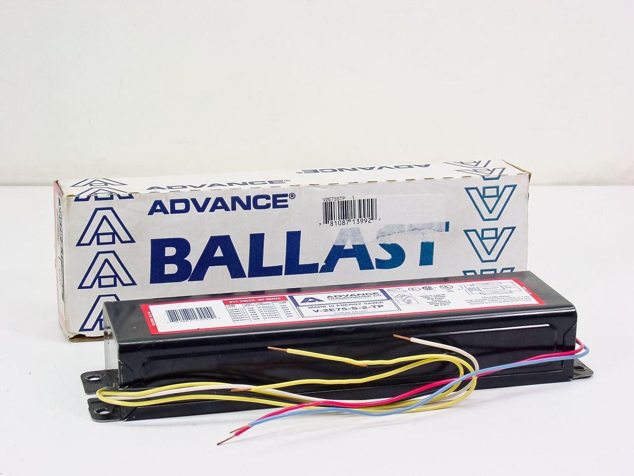 NEW ADVANCE BALLAST V2E75-S-TP BALLAST V2E75STP