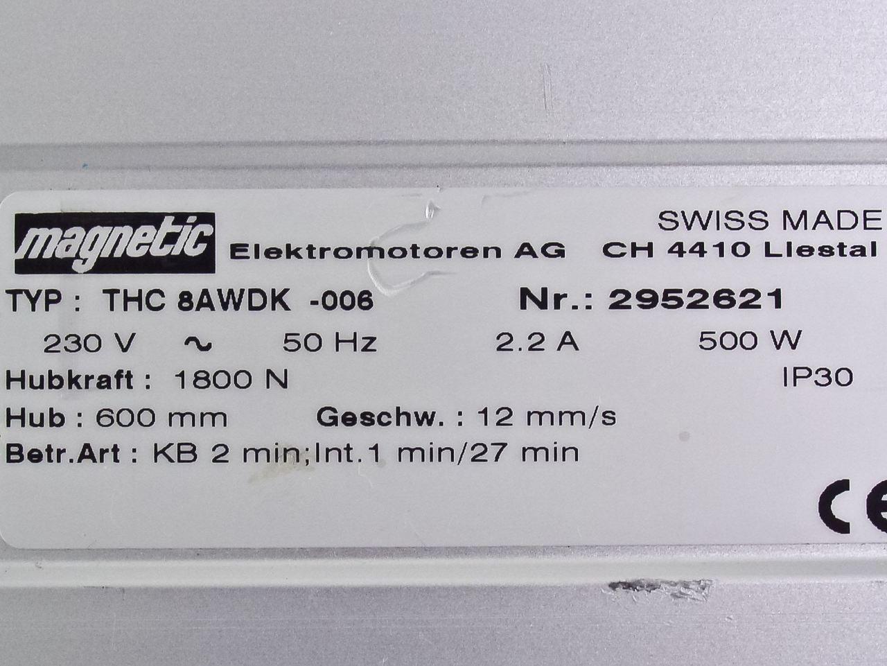 Magnetic Elektromotoren Linear Actuator THC 8AWDK-008 on