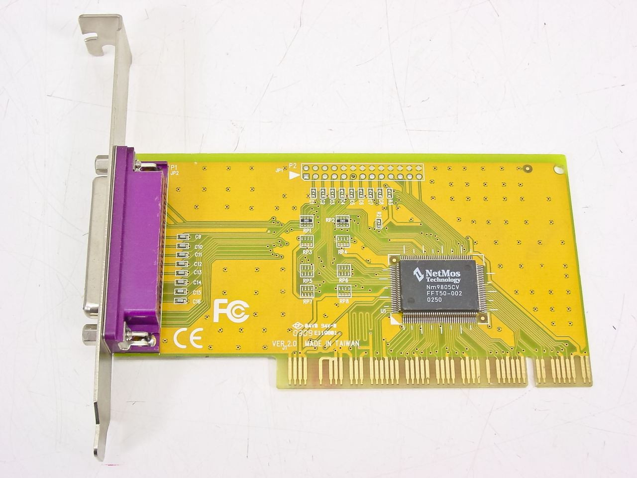 NetMos Technology E119801 PCI 1 Port ECP EPP Card With Chipset 9805CV