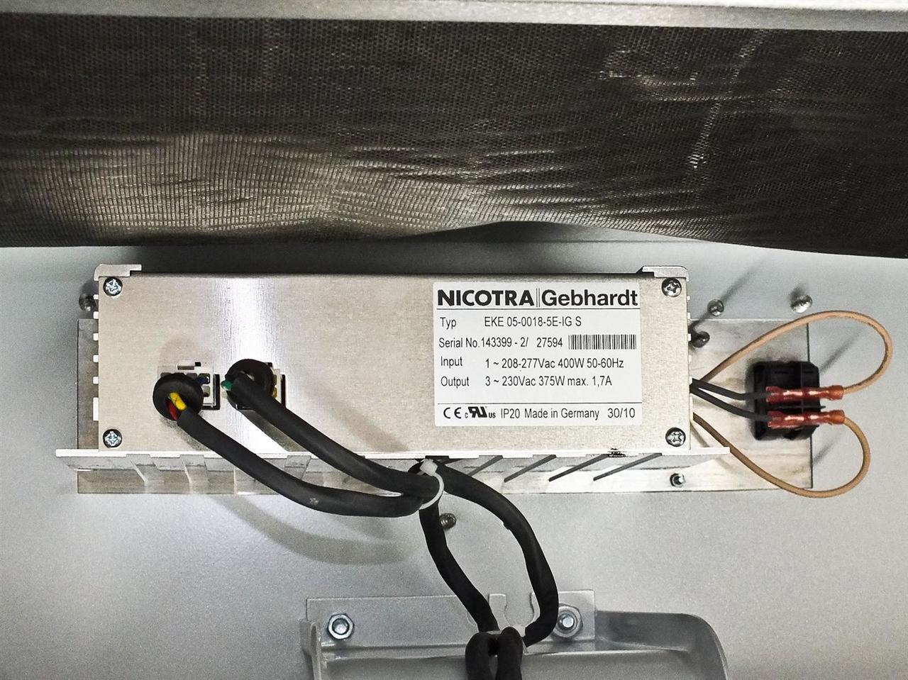 """Nicotra Gebhardt RHP 1212-240-EC90 Clean Room FFU w//Camfil 44/""""x 44/"""" Hepa Filter"""