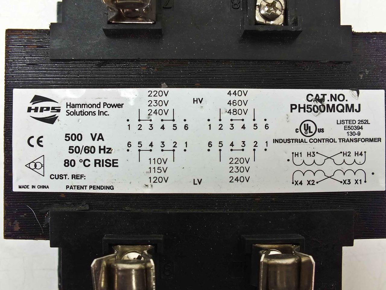 Hammond Power Solutions Industrial Control Transformer (PH500MQMJ) on