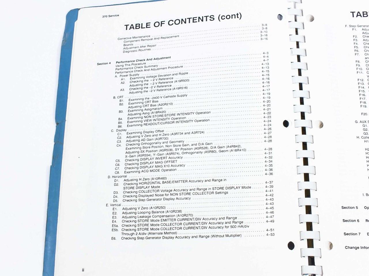 Tektronix 370 Programmable Curve Tracer Service Manual