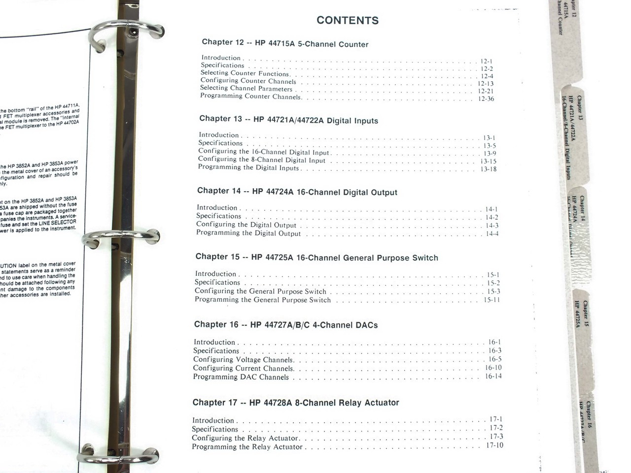 HP 3852A Data Acquisition/Control Unit Plug-In Accessories
