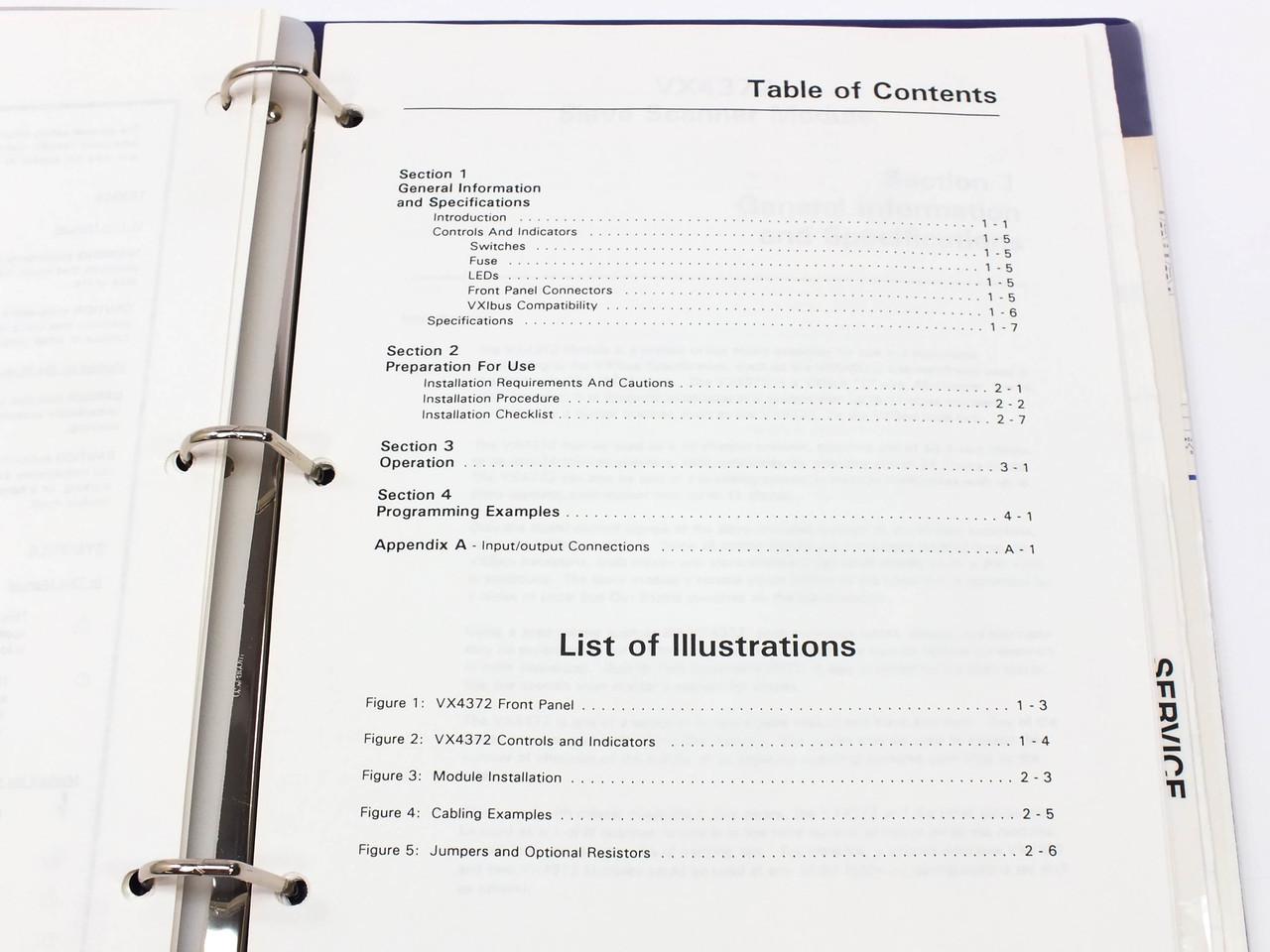 Tektronix VX4372 Slave Scanner Module Operating Manual