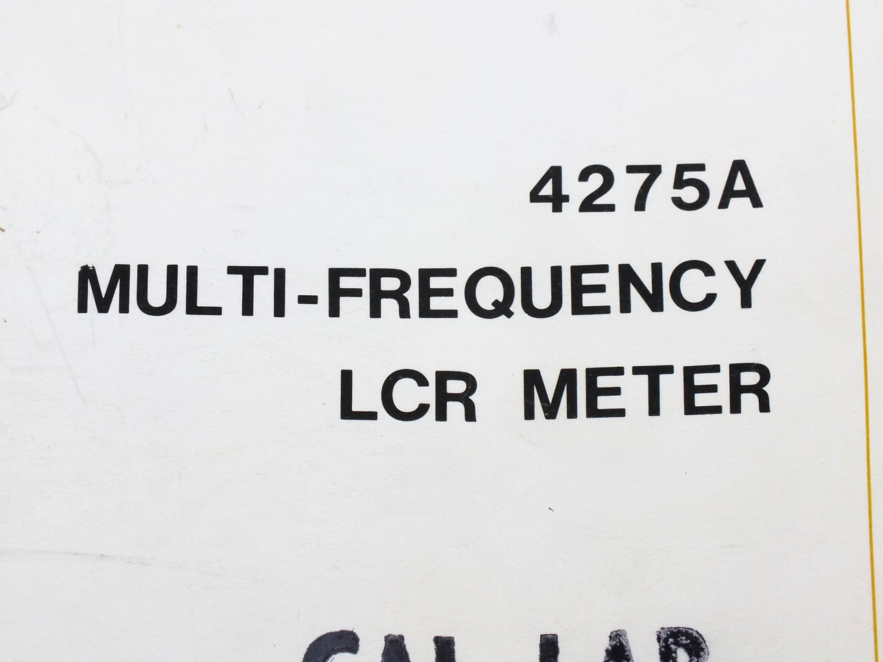 HP 4275A Multi-Frequency LCR Meter Service Manual