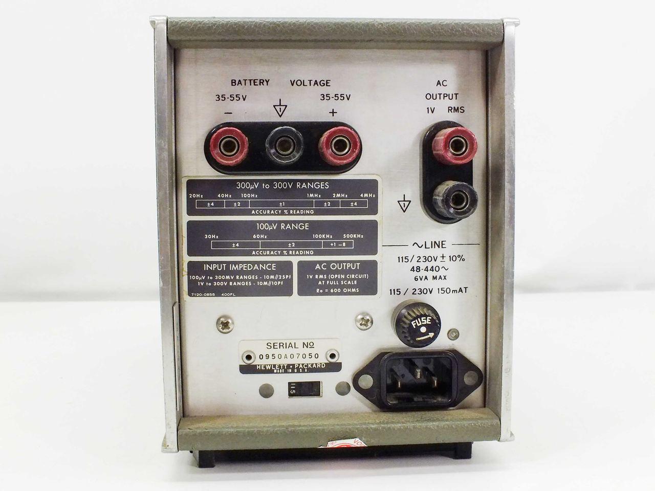 HP 400FL AC Voltmeter - AS-IS Parts Unit