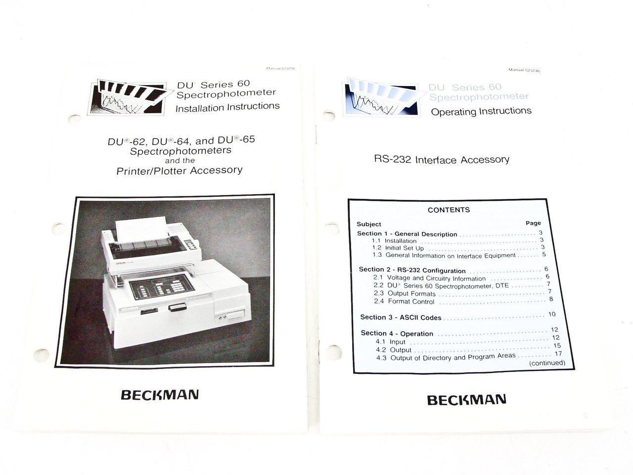 Beckman DU-65 UV-Visible Scanning Spectrophotometer -Doesn't Pass Self Test