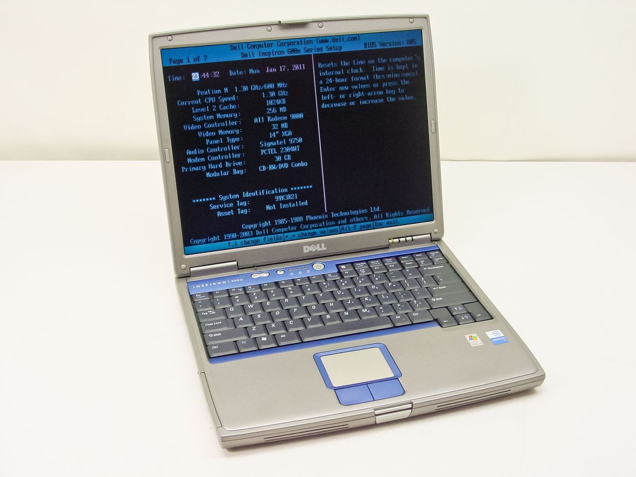 Dell Pentium M 1 30GHz, Laptop - AS IS Inspiron 600m
