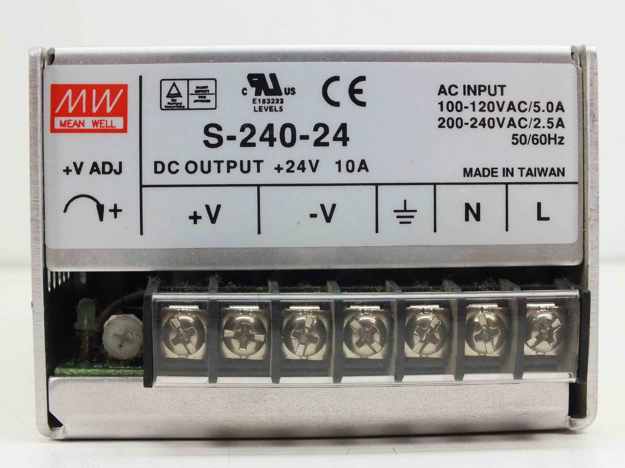 Mean Well S-240-24 Single Output Switching Power Supply 24V 10A 240W 7-Pin