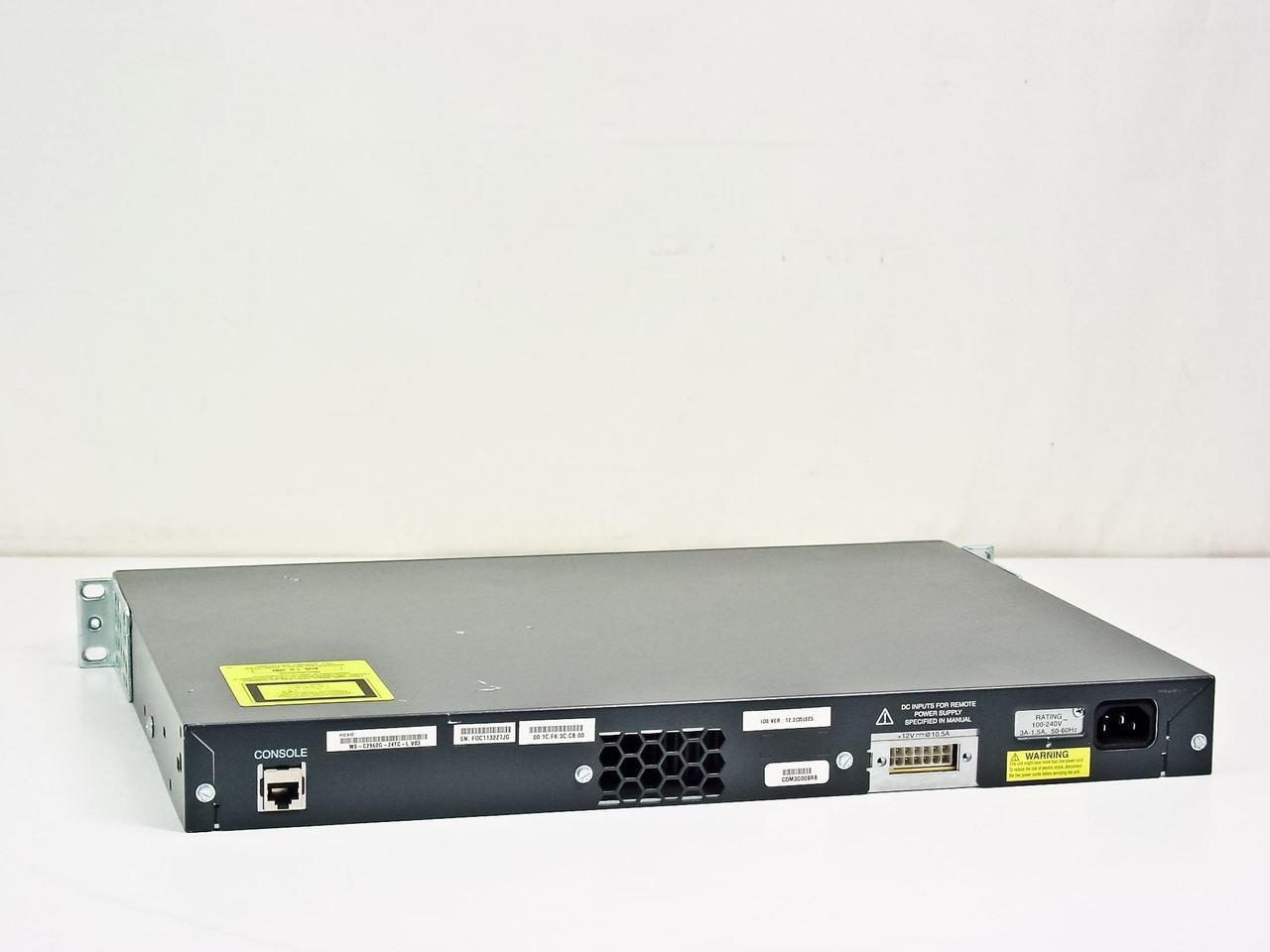Cisco WS-C2960G-24TC-L Catalyst 2960G Series 24 Port Gigabit Switch