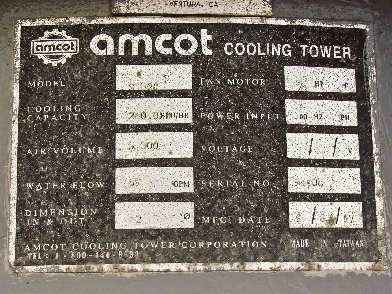 Amcot St 20 Cooling Tower Recycledgoods Com