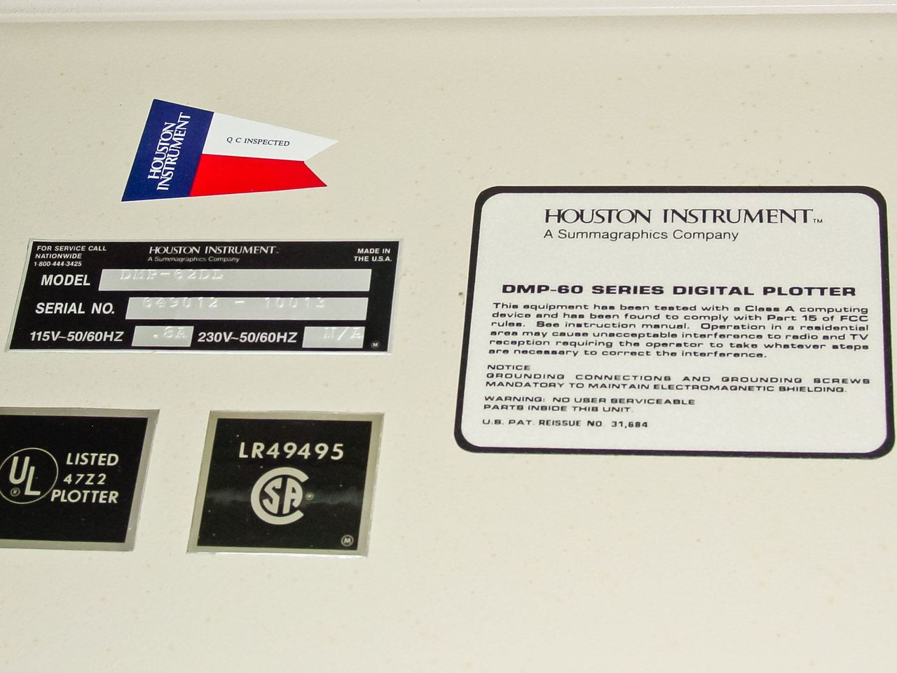 Houston Instruments DMP-60 DL Series / MP80 Medium Format Pen Plotter