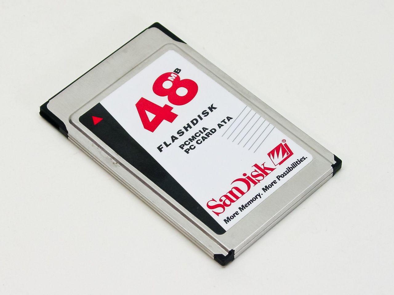 PC Card PCMCIA SANDISK 48MB Flashdisk Ata