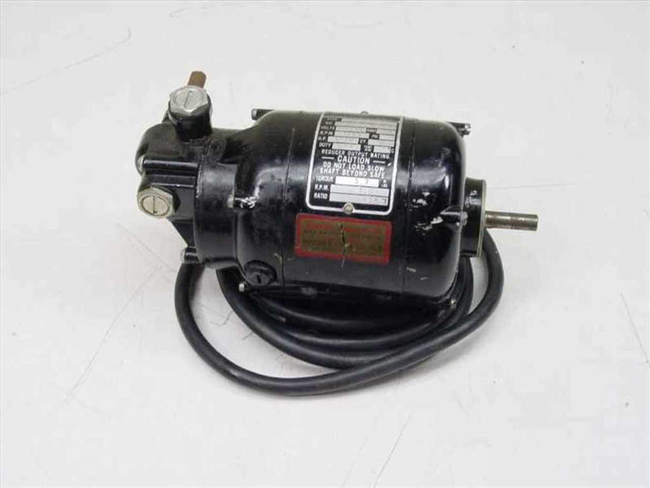 Bodine Electric Company NSH-12R 1/70 HP 1725 RPM Sd Reducer Motor on